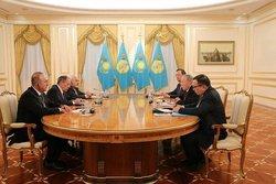 دیدار وزرایخارجه ایران،روسیه وترکیه با رئیسجمهور قزاقستان