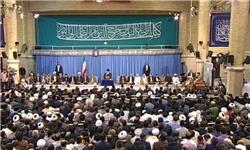 دیدار شرکتکنندگان مسابقات قرآن با رهبر انقلاب