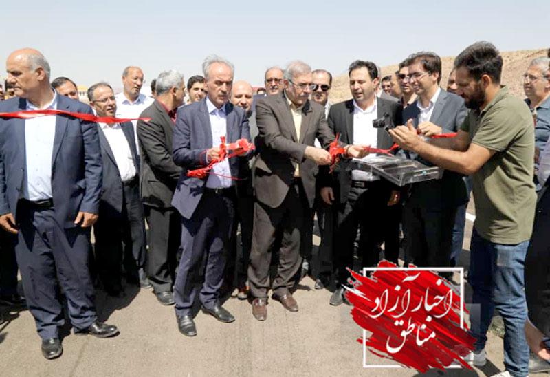 افتتاح یک پل ارتباطی در کمربندی شرق جلفا در منطقه آزاد ارس