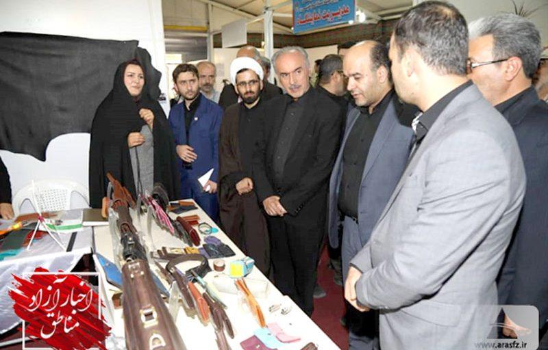 برپایی نمایشگاه تولیدات مددجویان آذربایجان شرقی در منطقه آزاد ارس