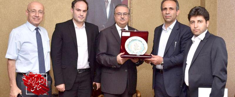 مناسبات تجاری مناطق آزاد ماکو و مرسین ترکیه گسترش مییابد