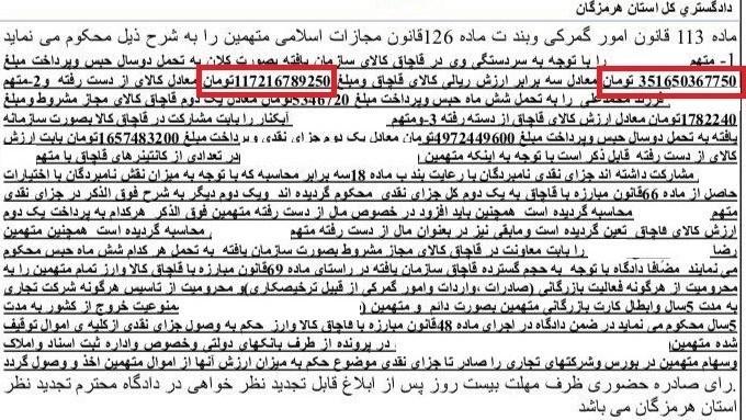 رای قطعی پرونده قاچاق ۱۱۲۸کانتینری صادر شد +سند