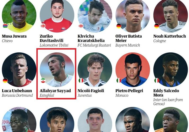 بازیکن استقلال در فهرست ۶۰بازیکن خوشآتیه فوتبال جهان