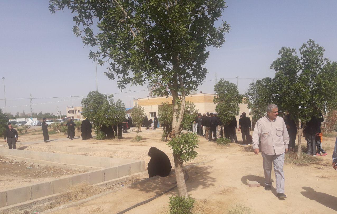 صفهای طویل سرویس بهداشتی در مرز مهران +تصاویر
