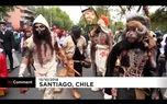 رژه جالب زامبیها +فیلم