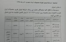قیمت فروش نقدی محصولات ایران خودرو اعلام شد