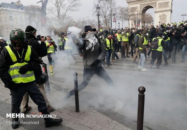 درگیری شدید پلیس فرانسه و معترضان/ ۳۰ نفر زخمی شدند - خبرگزاری مهر | اخبار ایران و جهان