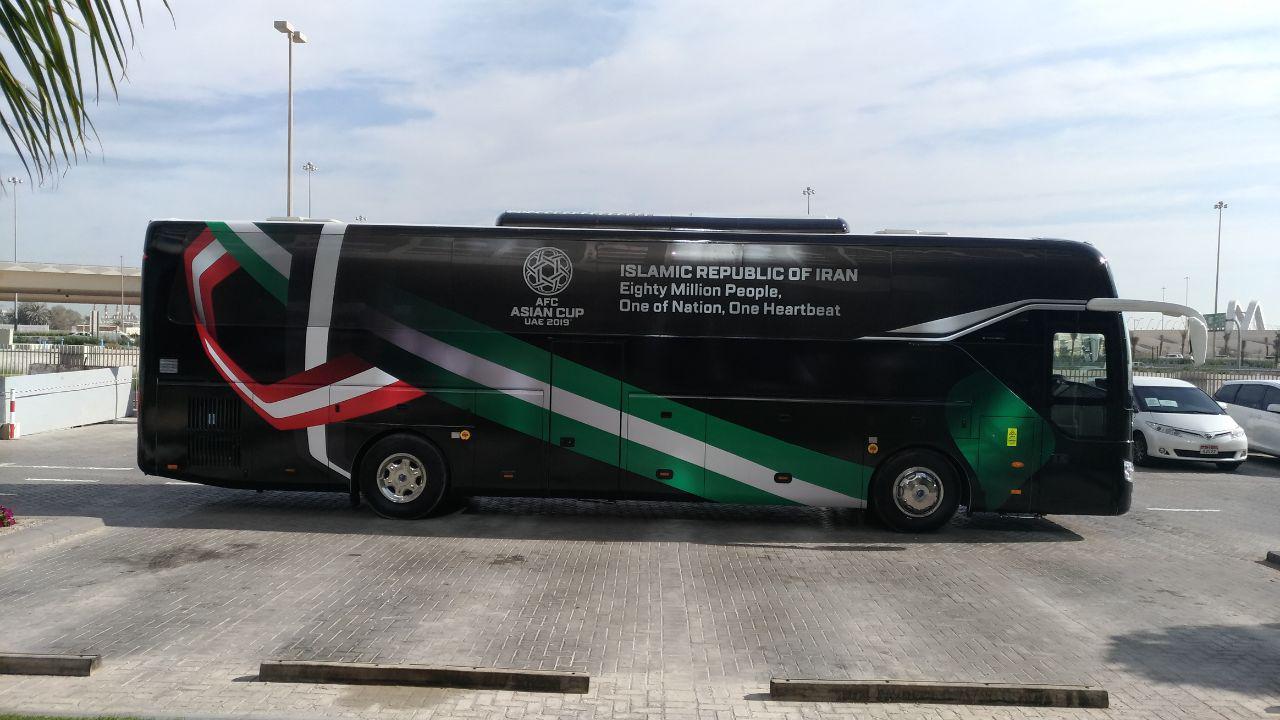 رونمایی از اتوبوس تیم ملی در جام ملتهای آسیا +عکس