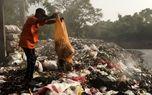 تخلیه زباله در حاشیه رودخانه