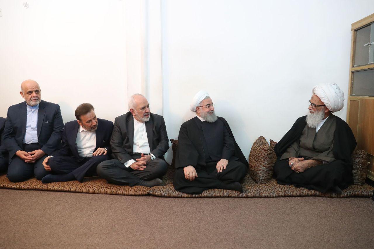 دیدار رئیسجمهور با مراجع تقلید در نجف اشرف+عکس