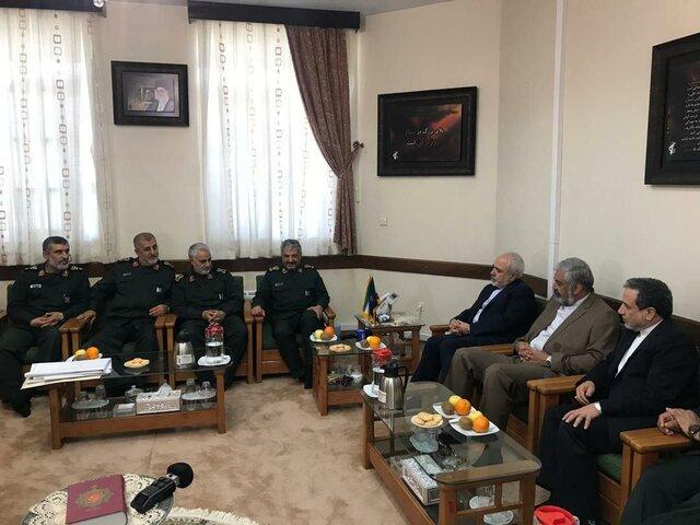 دیدار وزیر خارجه با فرمانده سپاه پاسداران/عکس