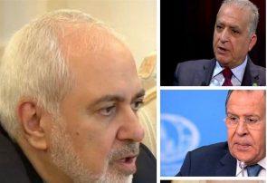 گفتگوی ظریف با وزرای خارجه عراق، روسیه و سوریه