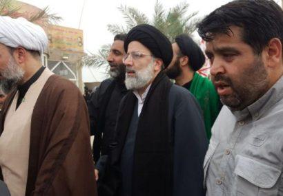 حضور رئیس قوه قضاییه در راهپیمایی اربعین+عکس