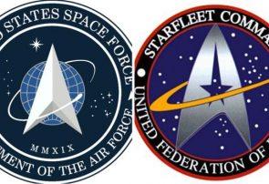 شباهت آرم شاخه فضایی ارتش آمریکا و سریال پیشتازان فضا +عکس